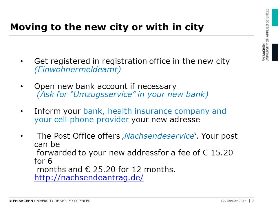 Moving to the new city or with in city