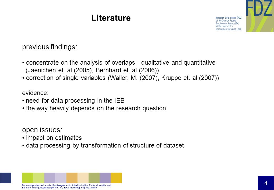 Literature previous findings: open issues: