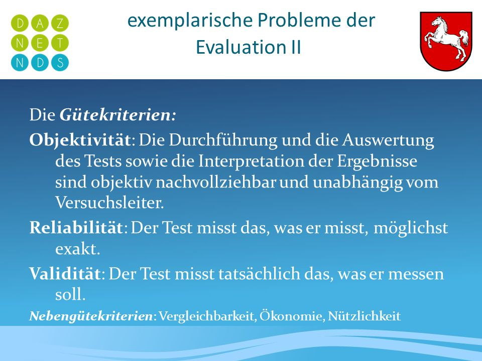 exemplarische Probleme der Evaluation II