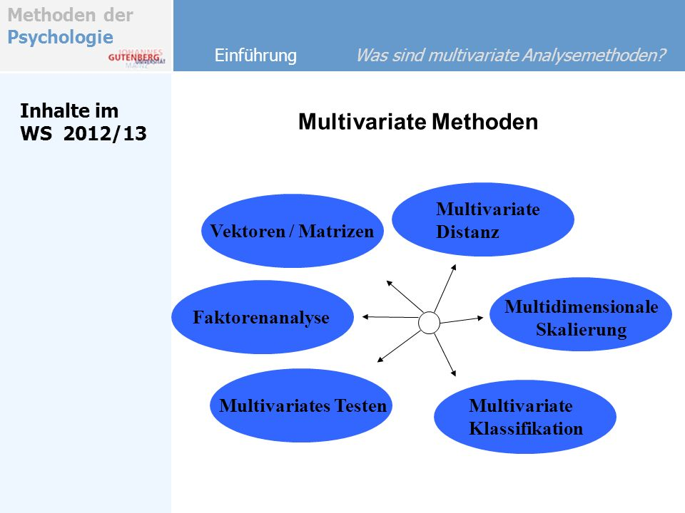 Multivariate Methoden
