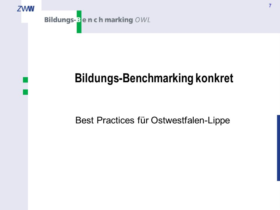 Bildungs-Benchmarking konkret