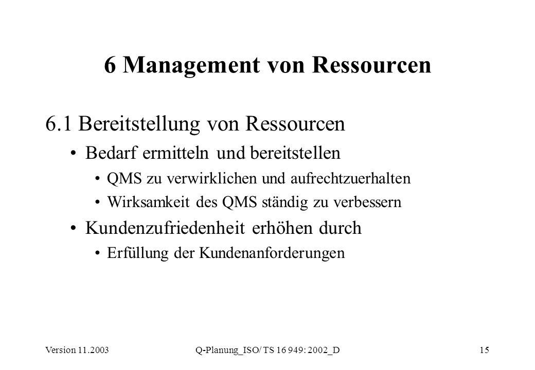 6 Management von Ressourcen