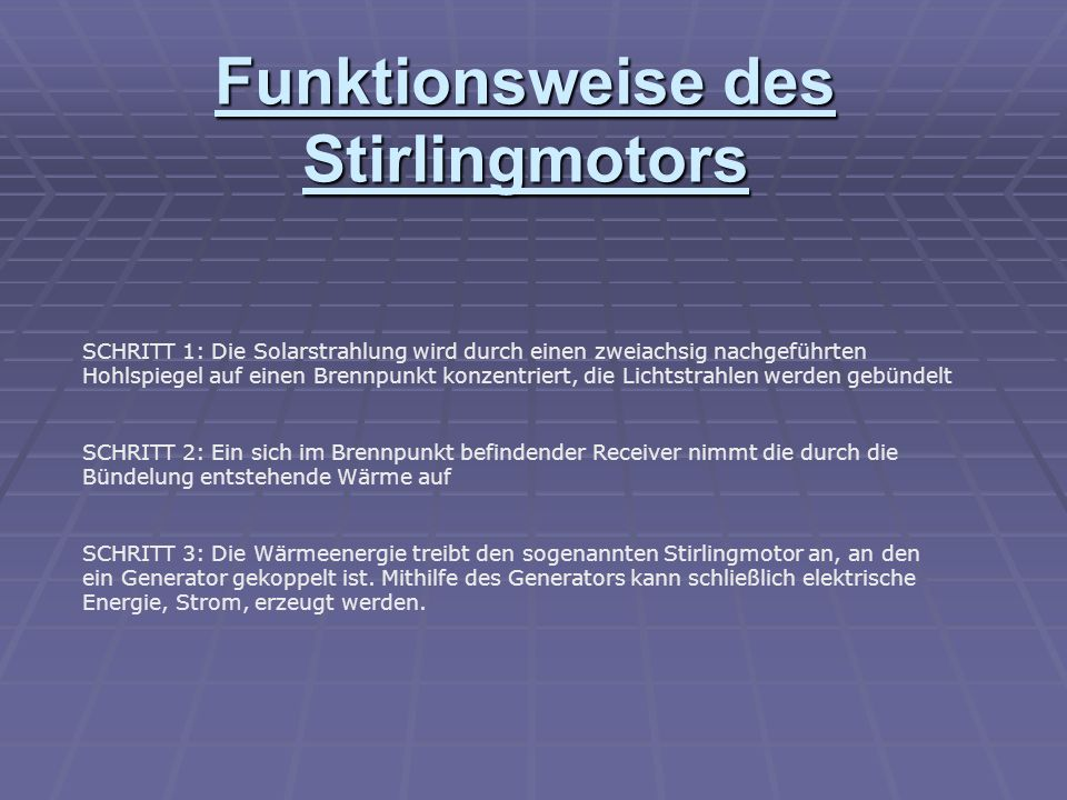 Funktionsweise des Stirlingmotors