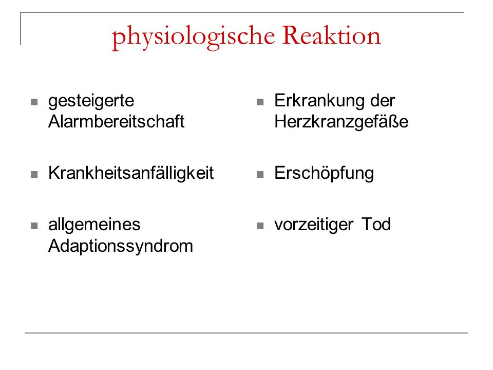physiologische Reaktion