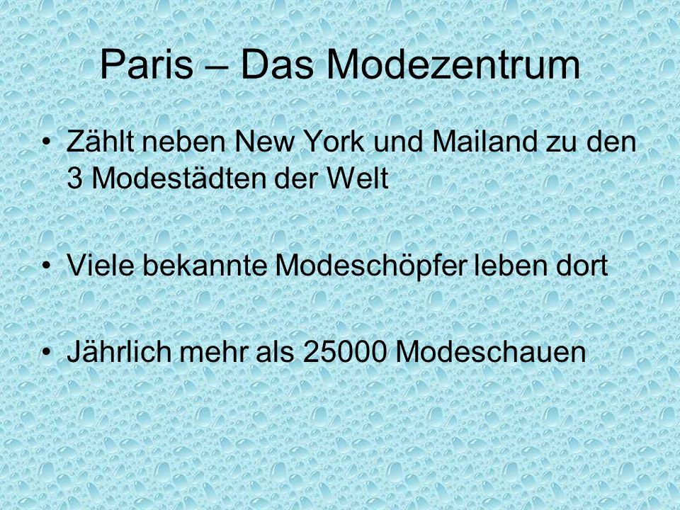 Paris – Das Modezentrum