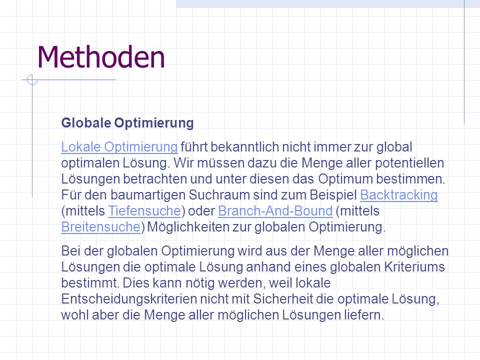 Methoden Globale Optimierung