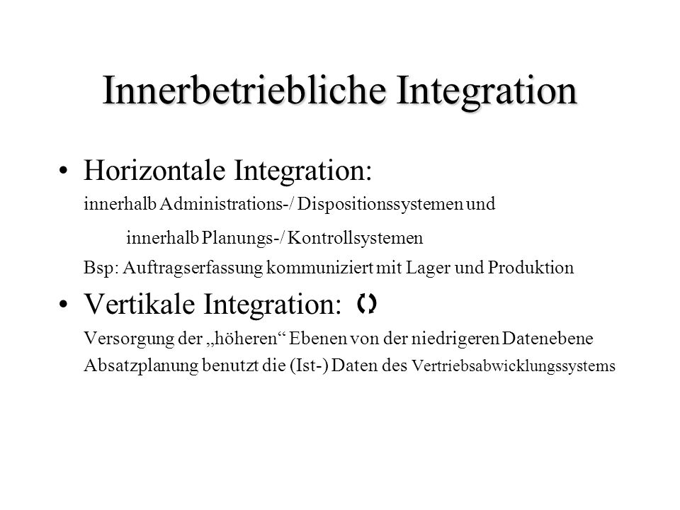 Innerbetriebliche Integration