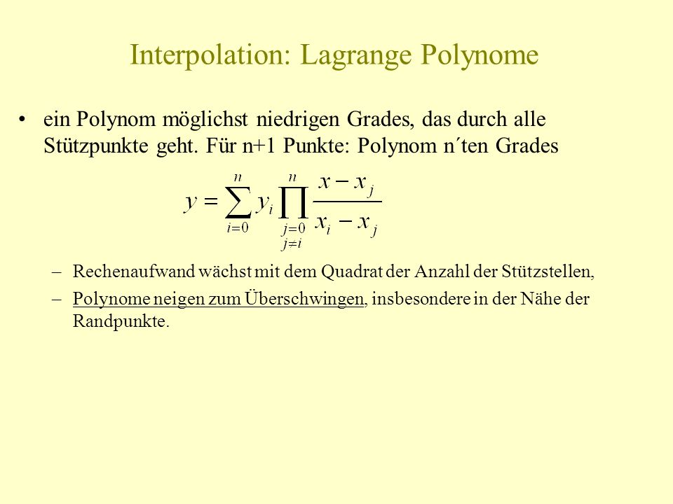 Interpolation: Lagrange Polynome