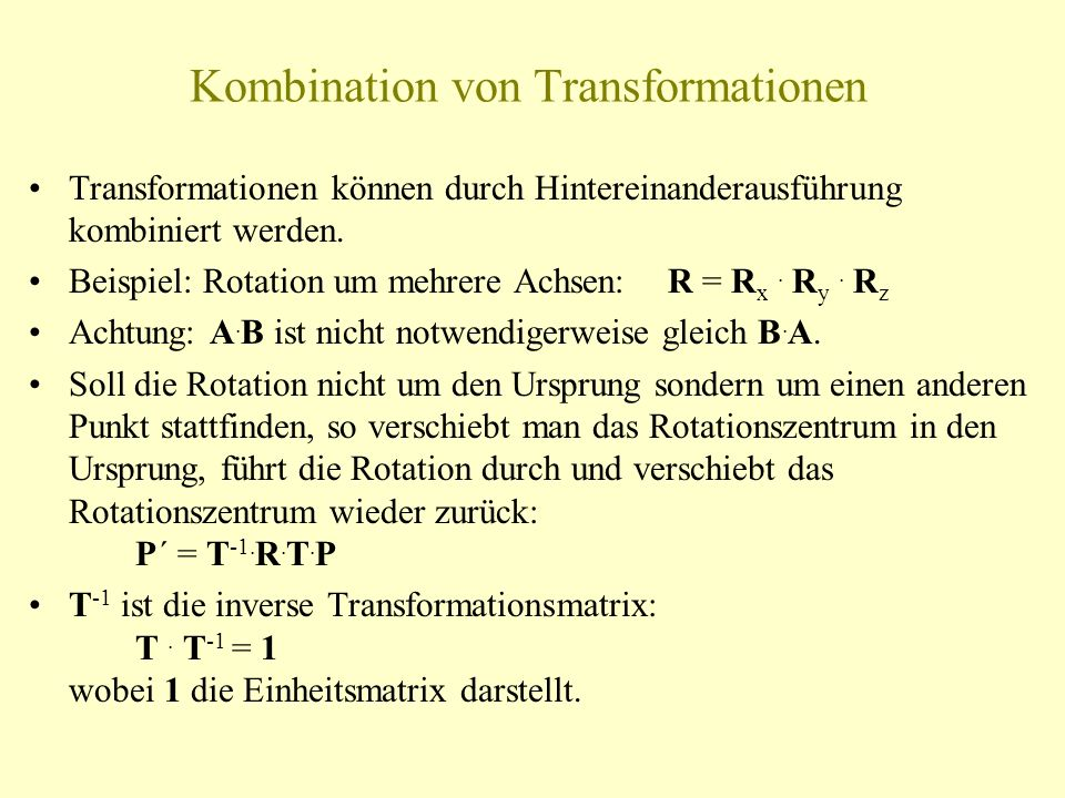 Kombination von Transformationen