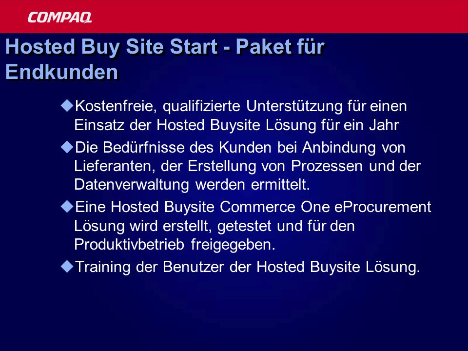 Hosted Buy Site Start - Paket für Endkunden