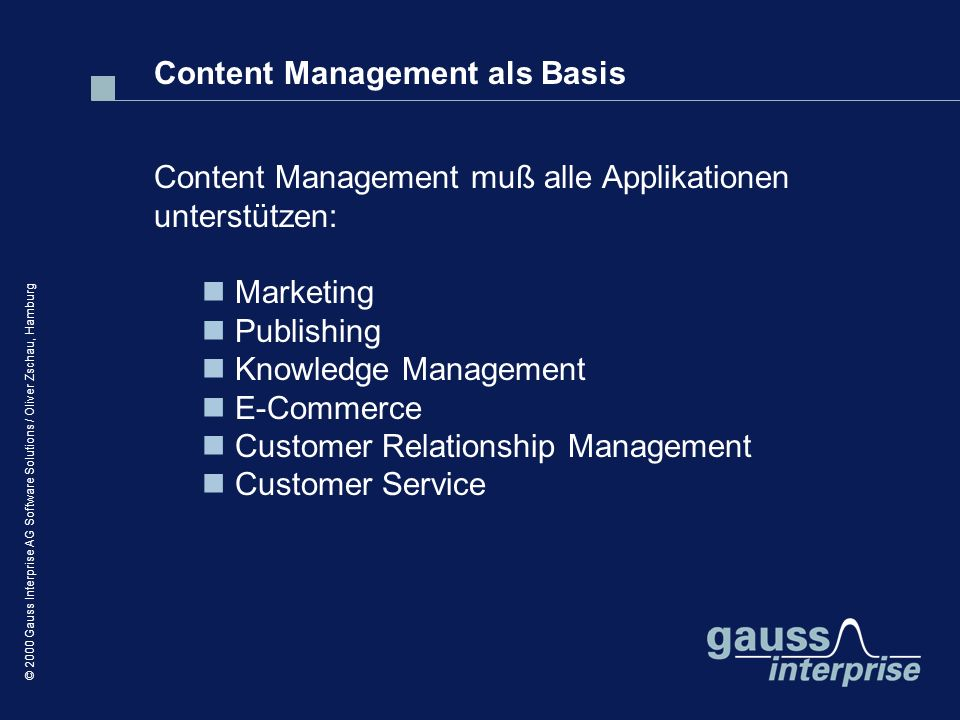 Content Management als Basis