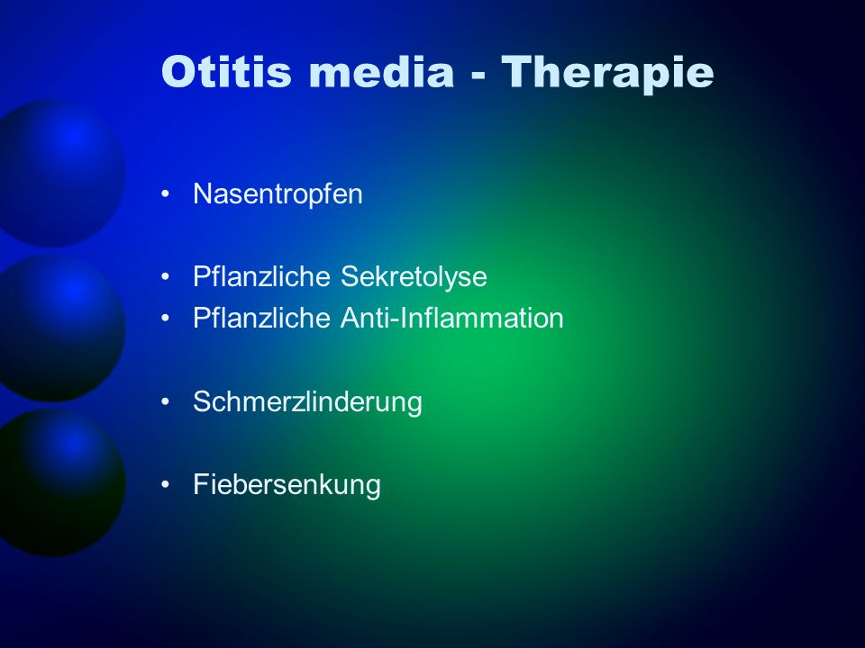 Otitis media - Therapie