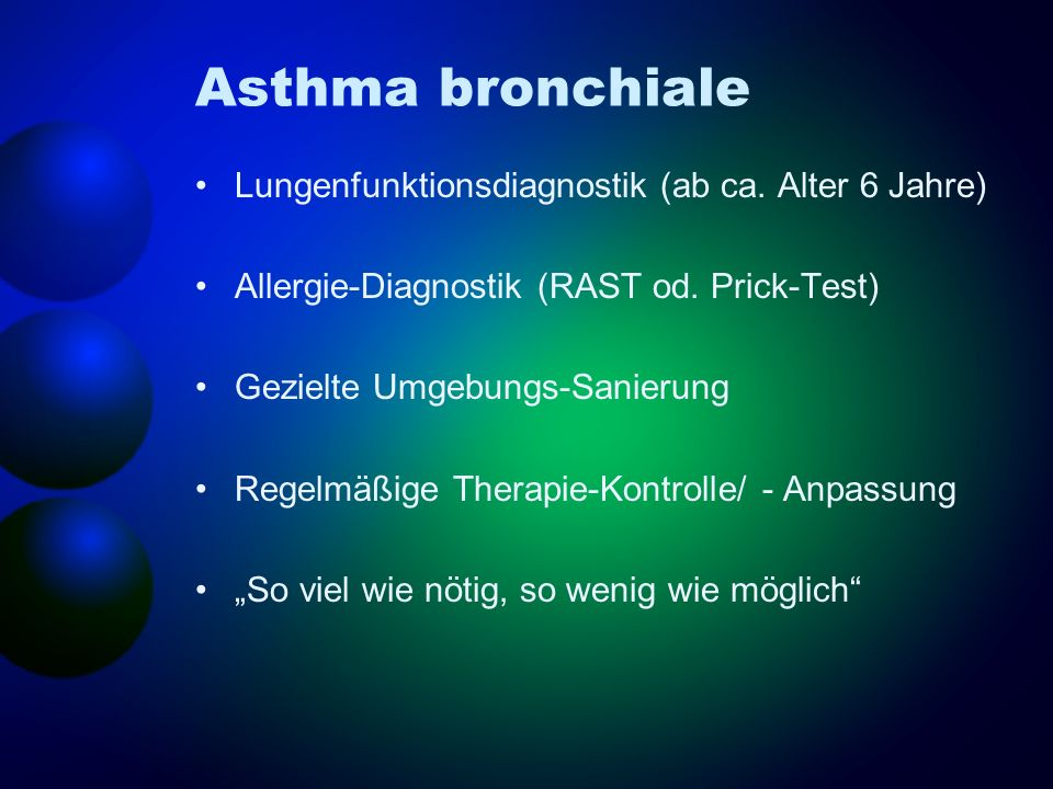 Asthma bronchiale Lungenfunktionsdiagnostik (ab ca. Alter 6 Jahre)