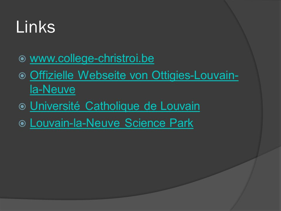 Links www.college-christroi.be