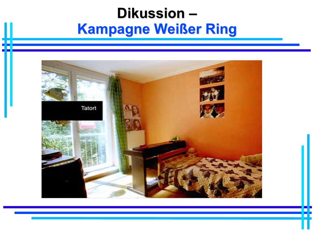 Dikussion – Kampagne Weißer Ring