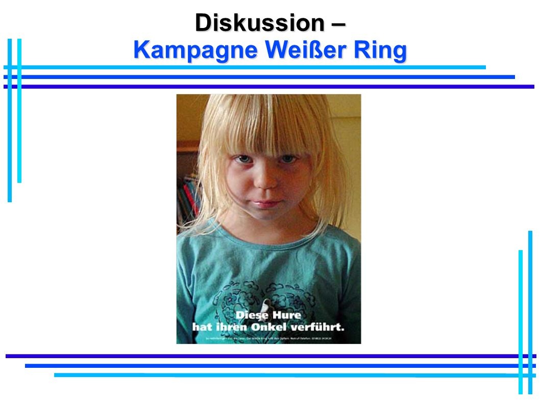 Diskussion – Kampagne Weißer Ring