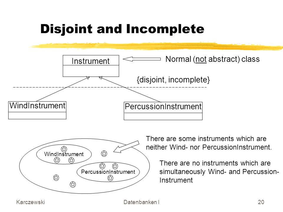 Disjoint and Incomplete