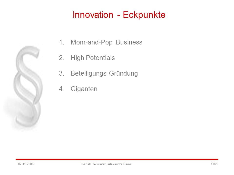 Innovation - Eckpunkte