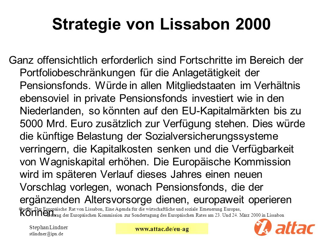 Strategie von Lissabon 2000
