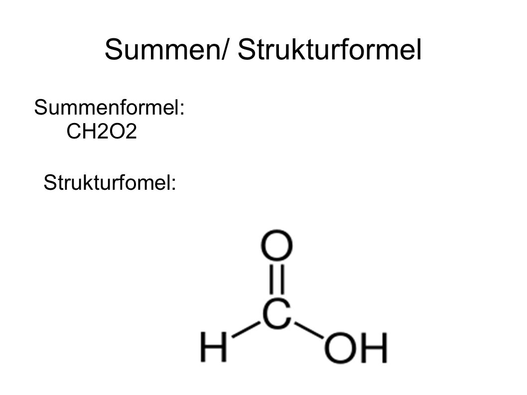 Summen/ Strukturformel