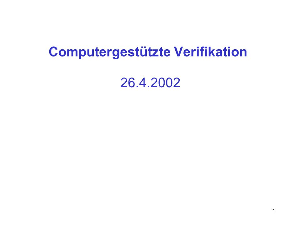 Computergestützte Verifikation