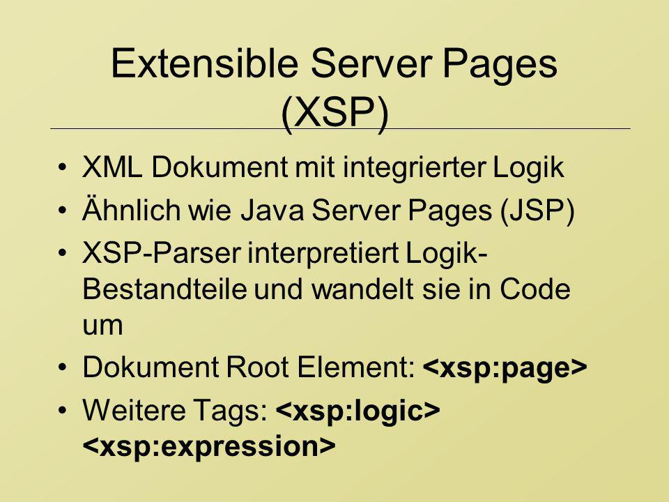 Extensible Server Pages (XSP)
