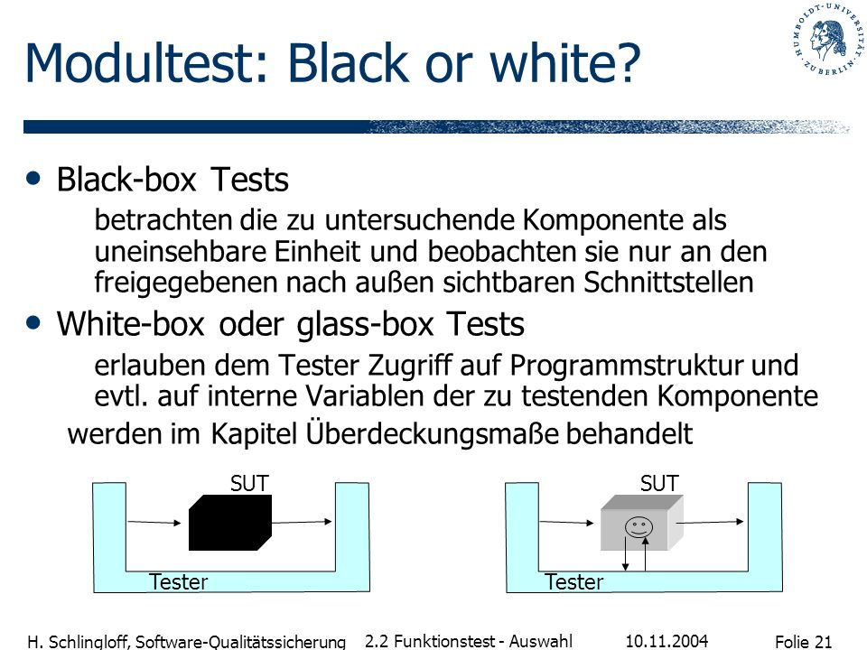 Modultest: Black or white