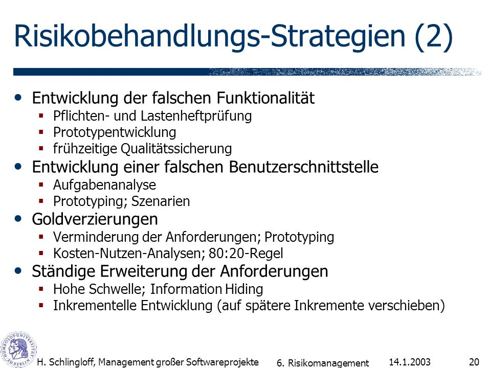 Risikobehandlungs-Strategien (2)