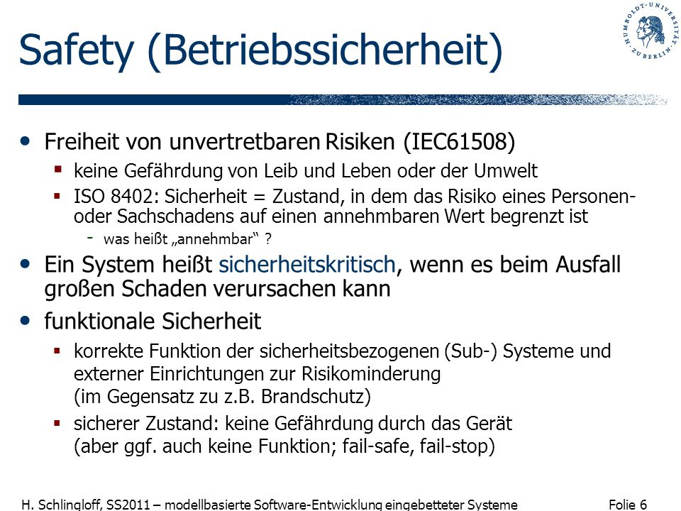 Safety (Betriebssicherheit)