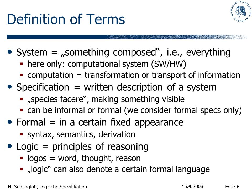 "Definition of Terms System = ""something composed , i.e., everything"