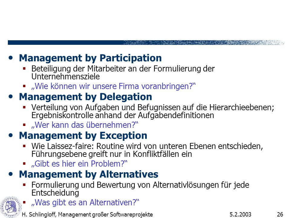 Management by Participation