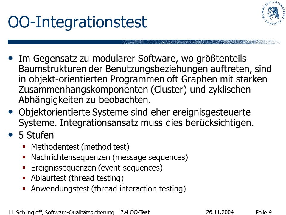 OO-Integrationstest