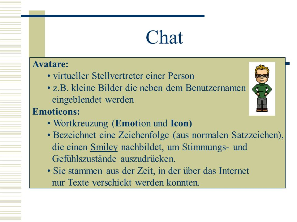 Chat Avatare: virtueller Stellvertreter einer Person