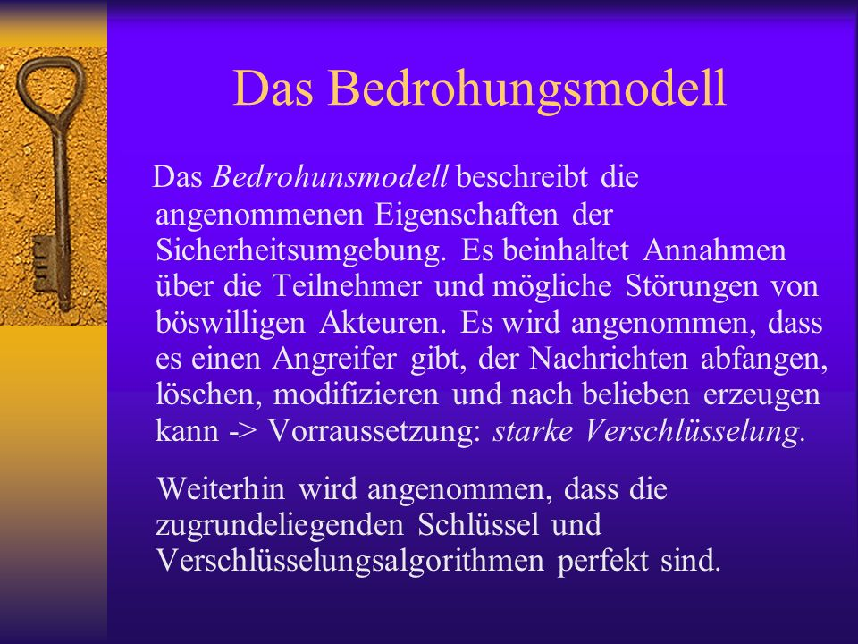Das Bedrohungsmodell