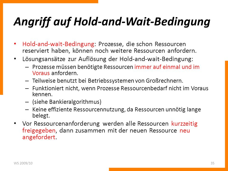 Angriff auf Hold-and-Wait-Bedingung