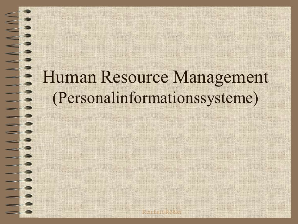 Human Resource Management (Personalinformationssysteme)