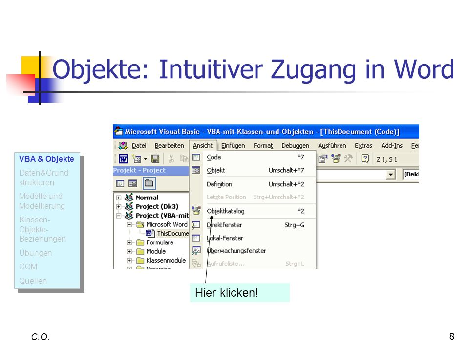 Objekte: Intuitiver Zugang in Word