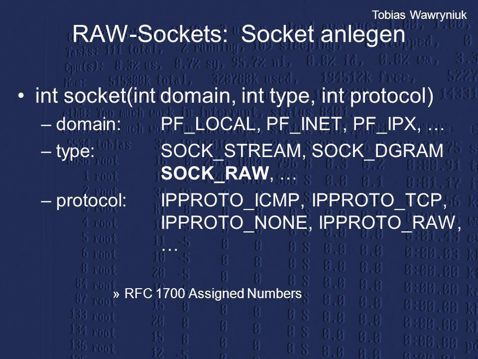 RAW-Sockets: Socket anlegen