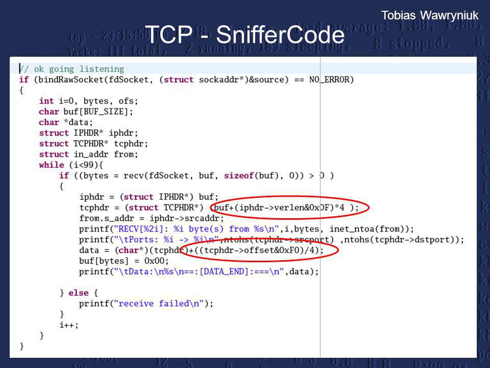 TCP - SnifferCode