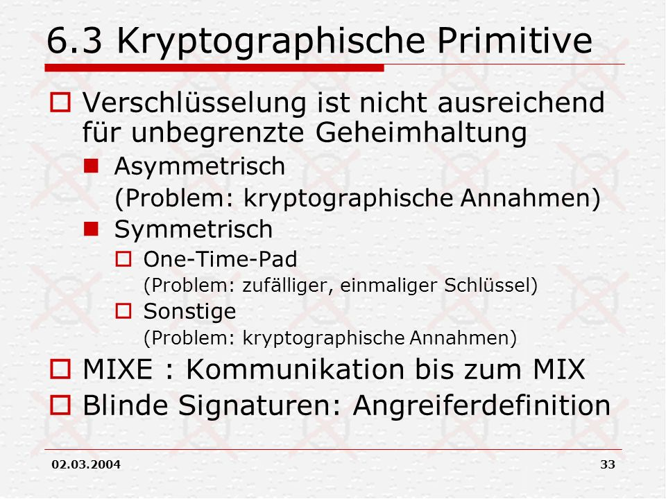 6.3 Kryptographische Primitive