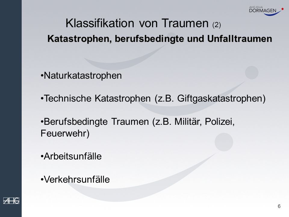 Klassifikation von Traumen (2)