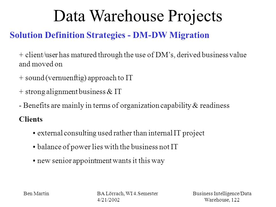Data Warehouse Projects