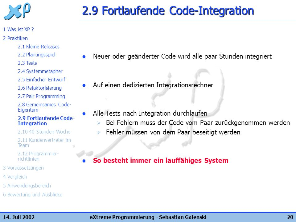 2.9 Fortlaufende Code-Integration