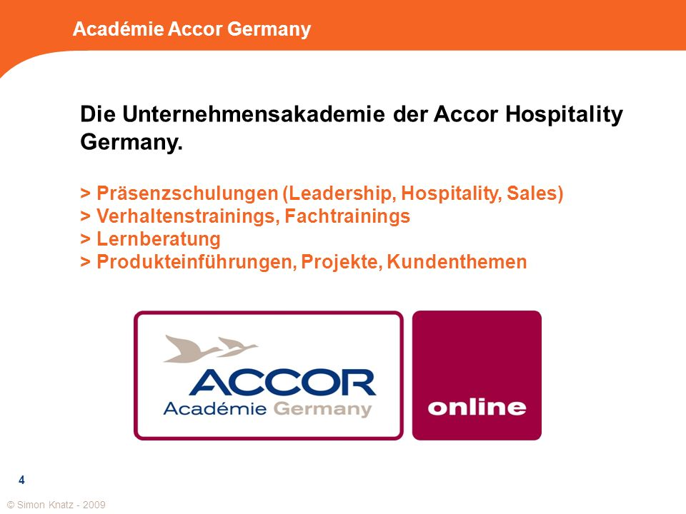 Académie Accor Germany
