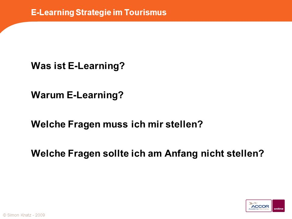 E-Learning Strategie im Tourismus