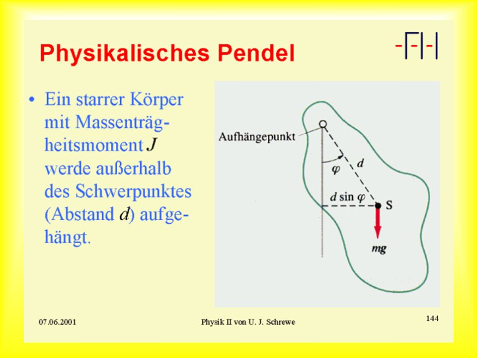 Physikalisches Pendel