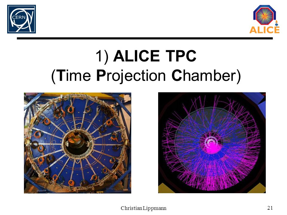 1) ALICE TPC (Time Projection Chamber)