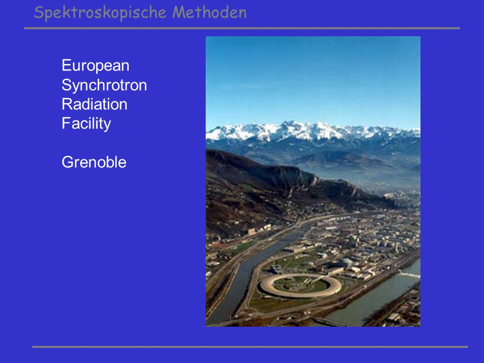 European Synchrotron Radiation Facility Grenoble
