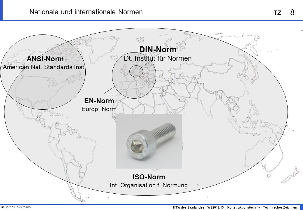 Nationale und internationale Normen