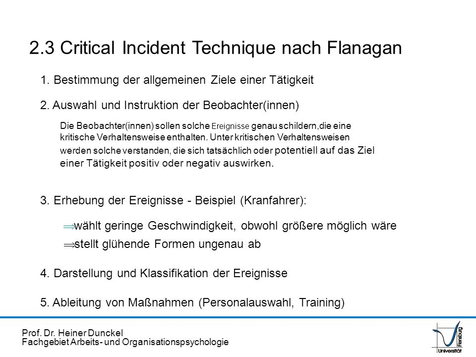2.3 Critical Incident Technique nach Flanagan